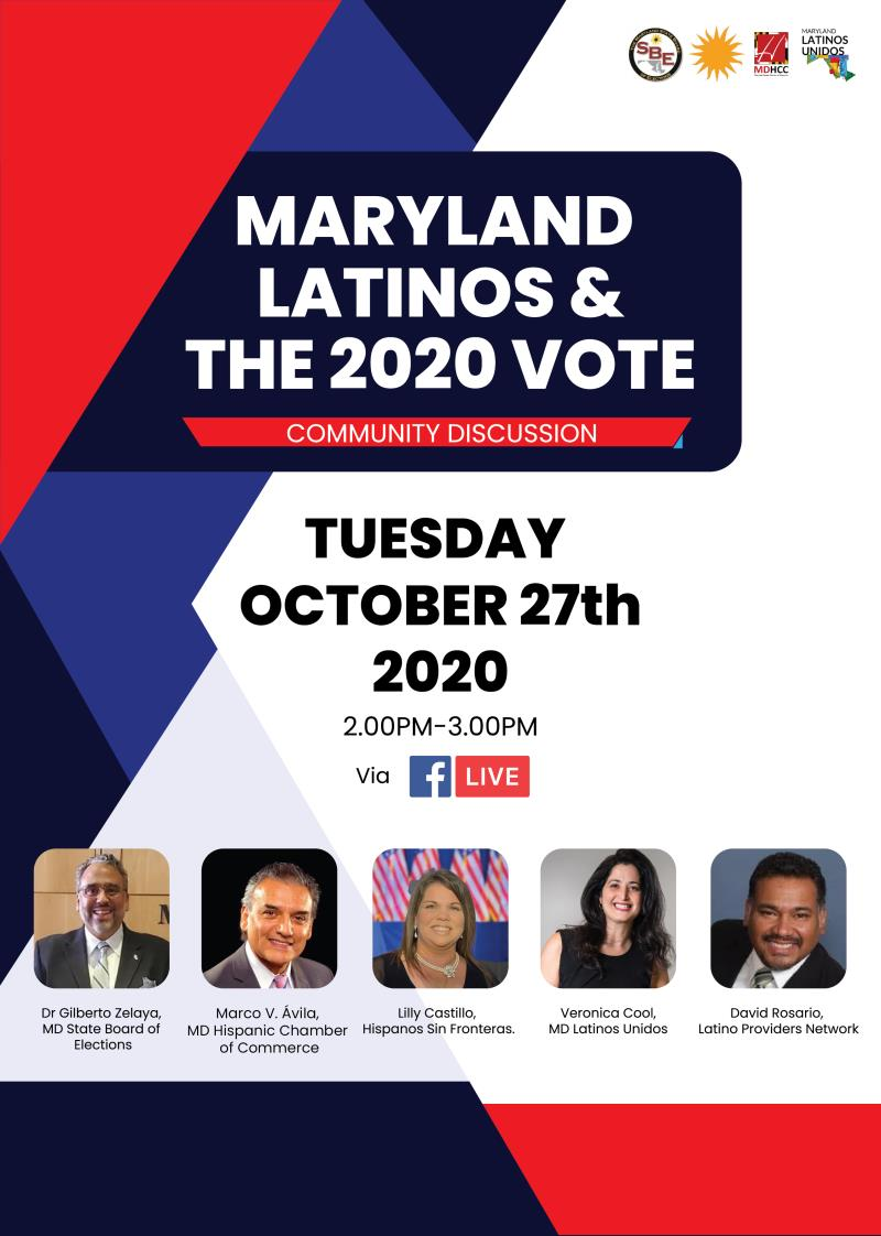 MD Latinos & The 2020 Vote -FB Live